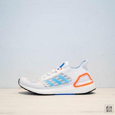 (貳柒商店) adidas Ultraboost SUMMER.RDY 男款 白色 白藍 慢跑鞋 編織 EG0751