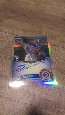 藍鳥Ben Revere topps chrome 限量499張簽名新人卡