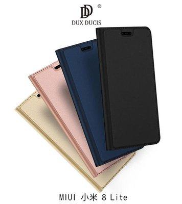 *Phone寶*DUX DUCIS MIUI 小米 8 Lite 奢華簡約側翻皮套 可站立 可插卡 保護套
