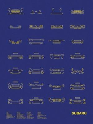 [車頭海報] Subaru 經典款車頭設計演變史 - 速霸陸 汽車