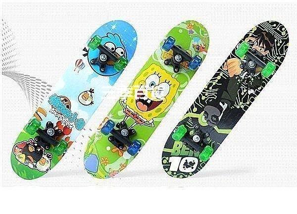 三季兒童滑板 四輪滑板 雙面圖案娛樂卡通滑板車 楓木板 兒童滑板❖773