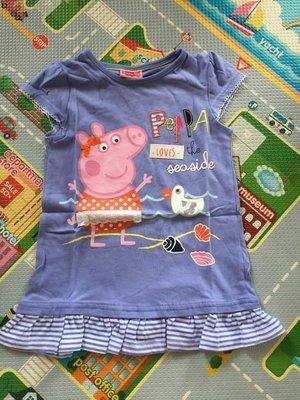 kitty house (862b20) 童裝 女孩 peppa pig 紫藍色 短袖 T恤 夏款 (特價 $68包郵)