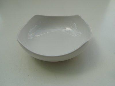 東昇瓷器餐具=大同強化瓷器方角型深缽 P3654