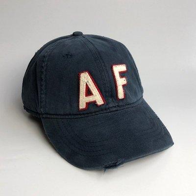 美國百分百【Abercrombie & Fitch】帽子 配件 老帽 AF 棒球帽 經典 麋鹿 Logo 深藍 G358 新北市