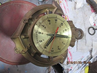 早期 古董全銅船鐘