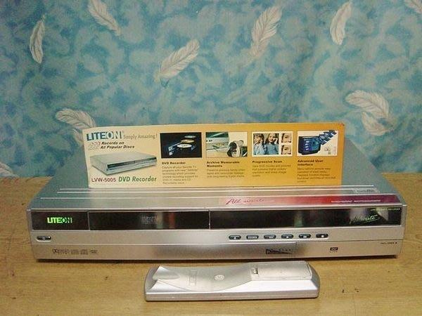 保固1年【小劉二手家電】LITEON DVD錄放影機, LVW-5005型,唯一可錄CD的機種,壞機也可修/抵!