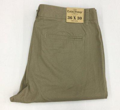 好貨市集 ~歐美品牌 Tailor Vintage 男休閒長褲 卡其色 34x32  36x30 孟加拉製