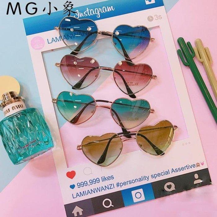 太陽眼鏡  韓版時尚愛心透明太陽眼鏡