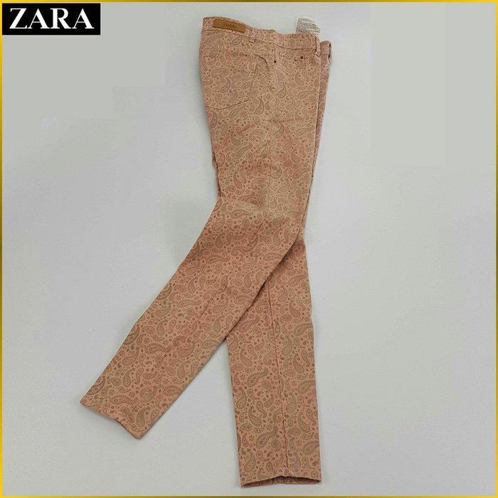 日本二手衣✈️ZARA 彈性 窄管緊身褲 花紋 SKINNY 痩身褲 休閒褲 歐系品牌ZARA 日本女裝 A61F3Z