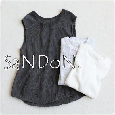 SaNDoN x『TODAYFUL』人氣華夫格 Waffle好穿無袖背心上衣  SLY 韓妮 180716