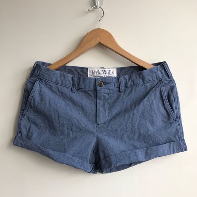 MISHIANA 英國品牌 JACK WILLS 海軍藍條紋折管短褲