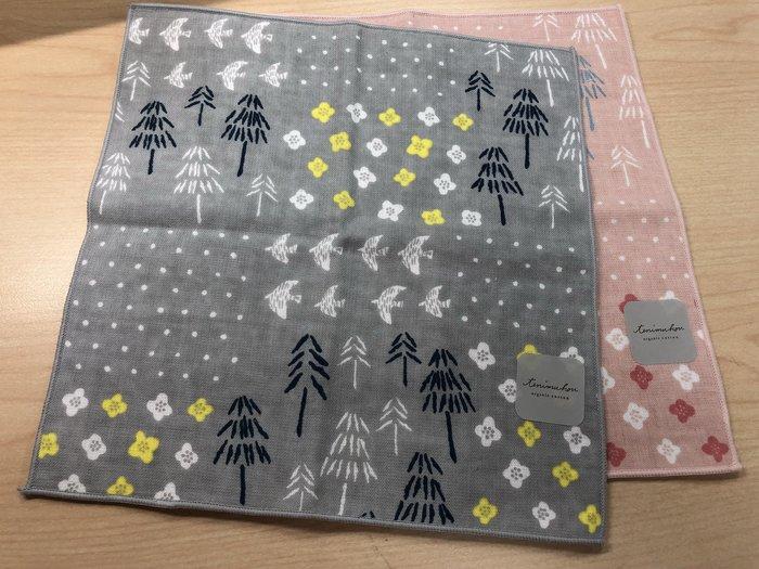 日本製 棉紗森林系列 手帕/小方巾