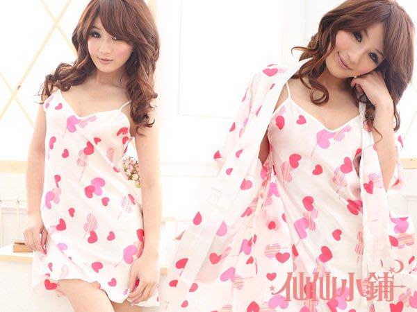 仙仙小舖 XC3071白 心心相印 甜蜜滿分輕柔睡衣組情趣內衣日系角色扮演