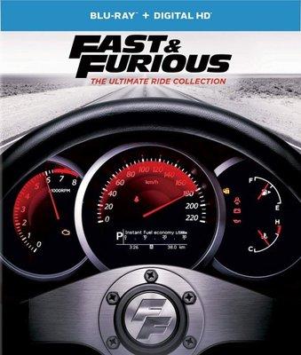 BD 全新美版【玩命關頭 1 2 3 4 5 6 7 8 合輯】【Fast & Furious】Blu-ray 藍光