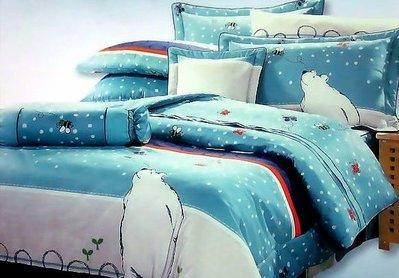 單人涼被4x5尺100%精梳棉-北極熊漫步-台灣製 Homian 賀眠寢飾
