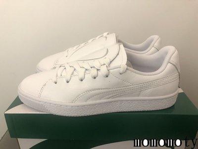 PUMA BASKET CRUSH EMBOSS 情人節 白色 全白 側綁 休閒鞋 36959501 請先詢問庫存