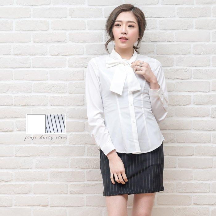 白襯衫套裝制服/大蝴蝶結長袖襯衫《SEZOO襯衫殿 高雄店家》028000318