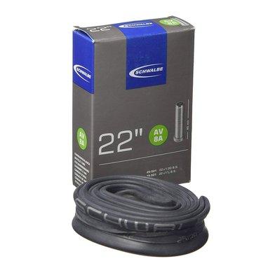 【速度公園】SCHWALBE 22 美式嘴內胎 AV8A 盒裝 氣嘴長度 40mm 內胎 自行車 腳踏車 單車