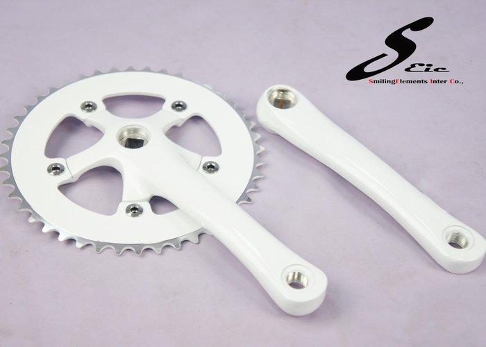 SEic單車工廠►單速車/自行車►曲柄大盤44T X 白色