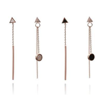 【韓Lin代購】韓國 GET ME BLIN- 明星同款抗敏銀針耳環 UNBALANCED TRIANGLE DROP