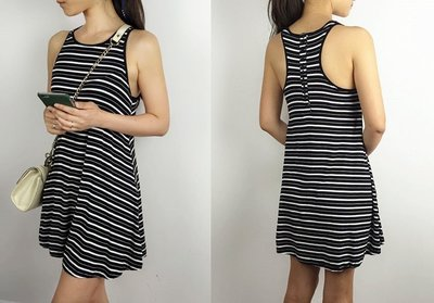 MISHIANA 澳洲品牌 FACTORIE 女生夏季休閒款無袖連身棉質洋裝 ( 特價出售 )