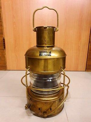 { Ruminant 慕名古物 } 日本製大型黃銅玻璃煤油船燈/油用紅燈60cm
