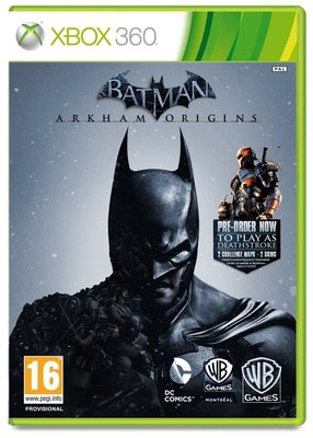 中古 XBOX ONE 360 蝙蝠俠:阿卡漢始源(兩片裝 附贈七套遊戲服裝)-英文版-Batman