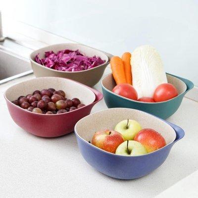 塑料雙層瀝水籃洗菜盆廚房洗菜籃子客廳果盤家用創意水果盆