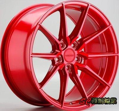 全新 美國品牌 VARRO VD20 VD-20 19吋鋁圈 5孔108 112 114.3 120 客製化 糖果紅