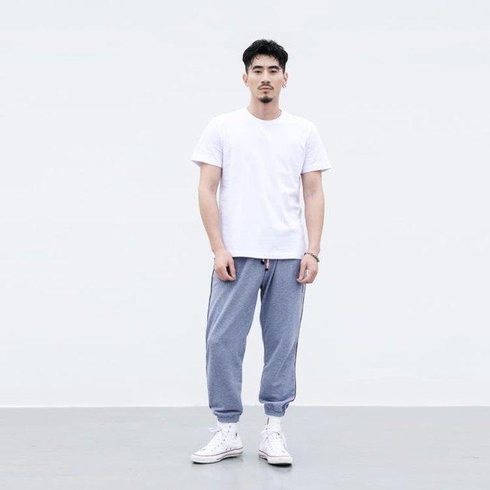 短袖t恤男純色圓領打底衫寬鬆純棉休閒大碼白色丅體恤一件免運