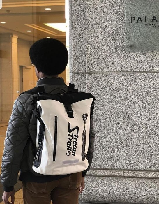 日本StreamTrail戶外防水包-雙肩筆電包/Hopper筆電雙肩背包 浪花白