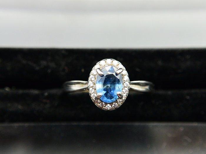 天然藍寶石Sapphire  低調簡約 橢圓形款戒 戒子 戒指 #10