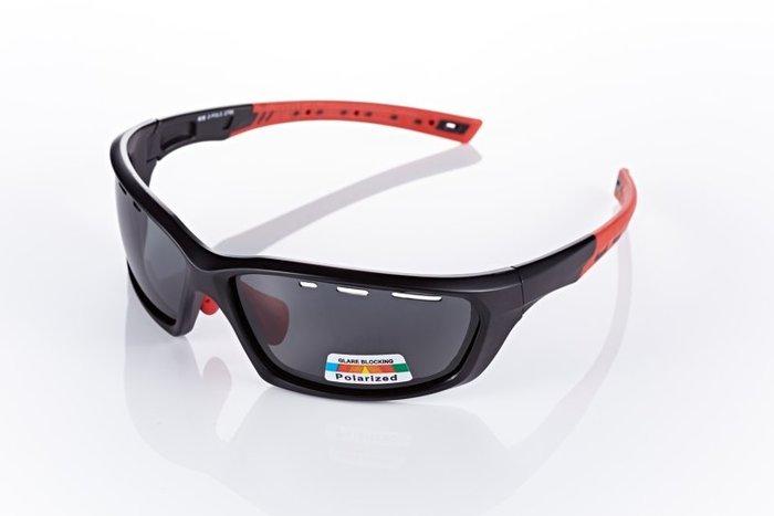 【視鼎Z-POLS三代頂級運動款】新一代TR太空纖維彈性輕量材質 弧形包覆設計 頂級偏光眼鏡!(消光黑)