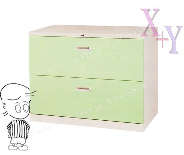 【X+Y時尚精品傢俱】綠色 74 抽屜二層式鋼製公文櫃.理想櫃.適合學校. 公司.台南市家具