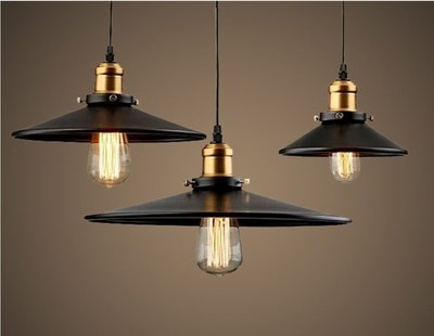 【現貨1-2天可收到】美式復古工業風吊燈倉庫吊燈咖啡廳吊燈鍋蓋吊燈小黑裙吊燈