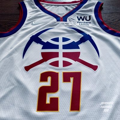 Murray Nuggets Earned Edition 大鋤 金塊 獎勵版 贊助標 球迷版 NBA 球衣
