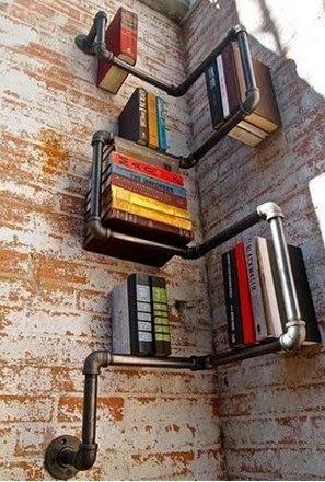 【奇滿來】美式工業水管復古個性書架 DIY 書房牆面置物架 咖啡館吧台 餐廳 展示架 工業風 裝飾 家俱 收納 AVAU