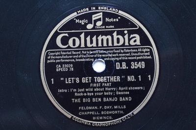 《Let's Get Together No.1》78轉 10吋 蟲膠唱片 電木唱片
