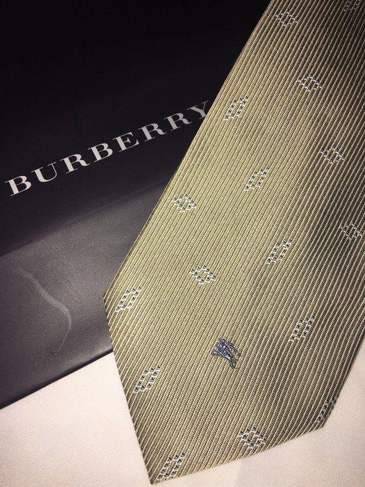 BURBERRY 絲質戰馬領帶  附原裝紙袋