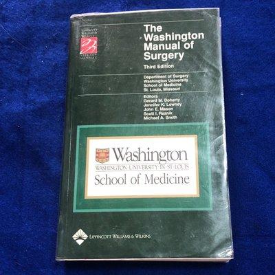 【兩手書坊G1】英文書~The Washington Manual of Surgery