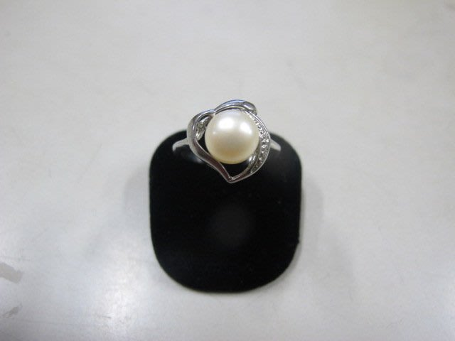 二手舖 NO.3989 天然珍珠 造型戒指 首飾飾品 全新