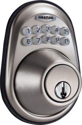 衛迅科技~  加安牌 FAULTLESS 電子 密碼鎖 輔助鎖 【免配線】可 DIY 快速安裝 ~ 居家 套房 宿舍專用