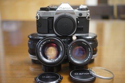 【售】很新的 Canon AE-1 Program 品相新加購 FD 50mm F1.4 SSC 55mm F1.2SS