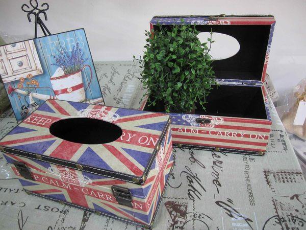 『法蘿美學小品』歐美家居飾品**復古英國風~美國風印字皇冠面紙盒~~**送禮贈品佳