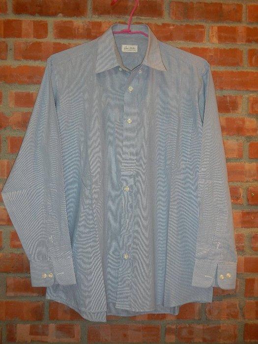 【甜心寶貝】Lee's Tailer 長袖細紋灰藍色 / 頸圍15.5