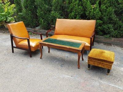 彰化二手貨中心(原線東路二手貨) --- 懷念早期古早味  早期普普風沙發組 1+3+桌+小椅沙發組