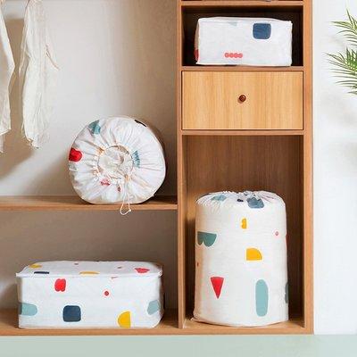 [加大款]碎花 幾何圖形 棉被 收納袋 防塵套 防塵袋 衣物 防塵罩 行李整理收納包【RB474】