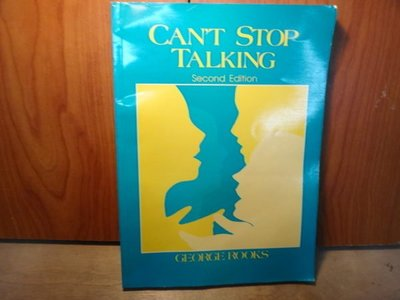 【愛悅二手書坊 04-13】 CANT STOP TALKING
