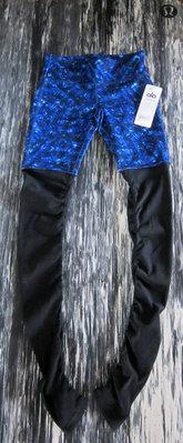 保證真品!洛杉磯LA瑜珈運動品牌Alo Yoga星空藍萬花筒印花圖案女神褲GODDESS RIBBED LEGGINGS