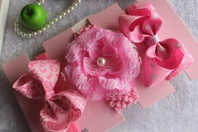 ☆草莓花園☆女童髮帶 時尚可愛花朵蝴蝶結頭飾 百搭款 套裝10  附精美外盒